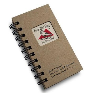 1 X Bird Watching My Bird Journal  MINI Natural Kraft Brown Hard Cover prompts on every page recycled paper read more