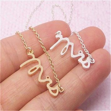 30pcs/lot Fashion Dainty Mrs Necklace Female Jewelry Trendy Initial Necklace Lovely Alphabet Letter Necklaces For Wedding Gift