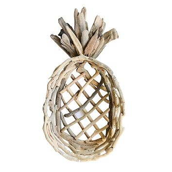 Decorative Driftwood Pineapple Tray --  20-in
