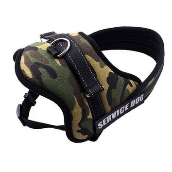 Medium Big Dog Harness Vest Nylon Service Security Dog Training Vest Camouflage Pet Products  Professional Dog Chest Straps