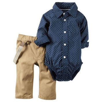 The New Infant Clothing Long-sleeved Polo Shirt Little Triangle Romper Baby Coveralls [8833498700]