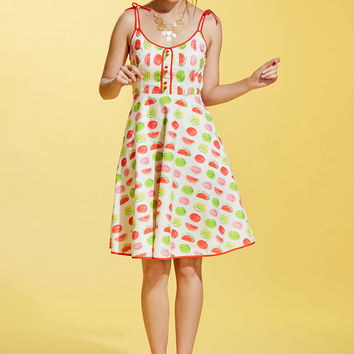 Waving from the Waterfront A-Line Dress in Melon