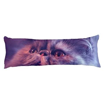 Grey Cat Body Pillow