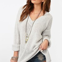 Maddy Oversized Knit - Silver in Clothes Tops at Nasty Gal