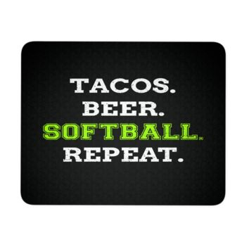 """Softball Mouse Pad 9.25"""" x 7.75"""" 1/4 Thickness Durable Neoprene"""