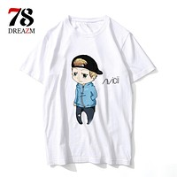 T shirt Summer Hot Sale t-Shirt Men Hawaii  Print Popular Hip Pop dj Short Sleeve Pure Shirt