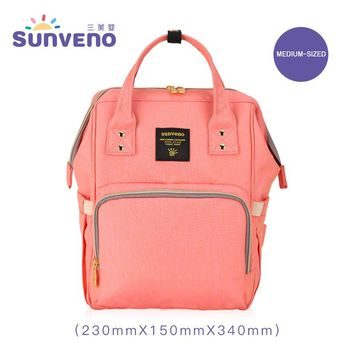 SUNVENO NEW Middle Mummy Maternity Diaper Bag Mom Backpack Brand Large Capacity Baby Bag Desinger Nursing Bag For Baby Care