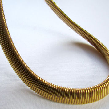 Vintage Gold  Omega Chain Collar Necklace Monet