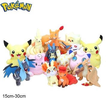 Pikachu Clefairy Charizard Vulpix Ninetales Togepi Jigglypuff Lucario Venusaur Plush Toys Soft Stuffed Animal Doll GiftsKawaii Pokemon go  AT_89_9
