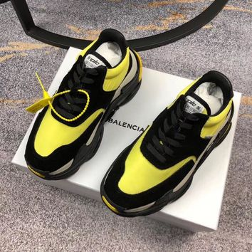 Balenciaga Men's Leather Triple S 2.0 Sneakers Shoes