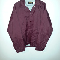 Vintage 80s Maroon SWINGSTER Nylon Windbreaker Jacket - Size S -