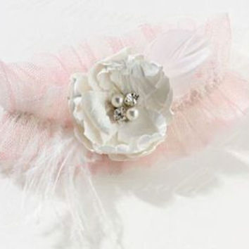 Chic and Shabby Blush Garter