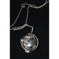Vampire Diaries Antique Steampunk Jewelry Locket Elena Necklace VERVAIN FILLED with 18 inches 925 Sterling Silver Chain