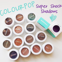 Hot Sale New Makeup COLOURPOP Super Shock Durable Waterproof Monochromatic Eye Shadow Eyeshadow 20 Colors A0332