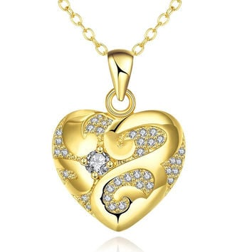 Gold Plated Tiffany's Love Necklace