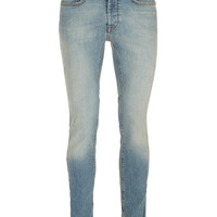 Light Wash Ripped Stretch Skinny Jeans - Men's Jeans - Clothing - TOPMAN USA