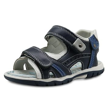 Summer Boys Sandals New Genuine Leather Toddler Kids Orthopedic Shoes for Boys Flat Children's Shoes