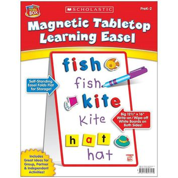 Little Red Tool Box Magnetic Tabletop Learning Easel