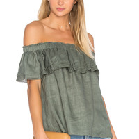 YFB CLOTHING Birdy Top in Olive Green | REVOLVE