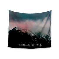 "Robin Dickinson ""There Are No Rules"" Black Blue Wall Tapestry"