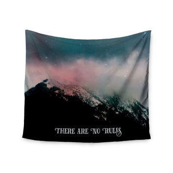 """Robin Dickinson """"There Are No Rules"""" Black Blue Wall Tapestry"""