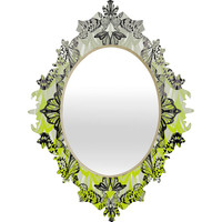 Pattern State Butterfly Tail Baroque Mirror