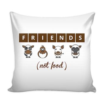 Funny Friends Vegan Graphic Pillow Cover