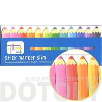Coloring Pencils Shaped Back to School Themed Memo Pad Post-it Index Sticky Bookmark Tabs