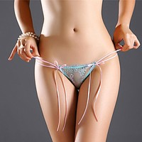 IXueJie Elastic Transparent Women G String Sexy Underwear Fashion Lace Briefs Thongs Lingerie Hollow Panties