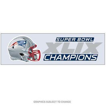 "Licensed New England Patriots 3"" x 10"" Super Bowl 49 Champions Perfect Cut Car Decal NE KO_19_1"