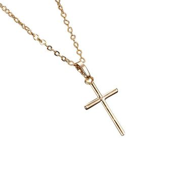 Small Cross Pendant Necklace
