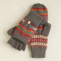 Gray Fairisle  Glittens - World Market