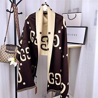 GUCCI Women Wool Scarf Shawl Scarf