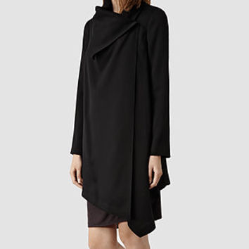 Womens Aiko Monument Coat (Black) | ALLSAINTS.com