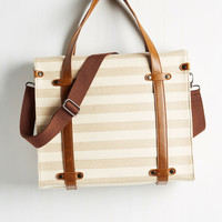 Camp Director Tote in Neutral Stripes | Mod Retro Vintage Bags | ModCloth.com