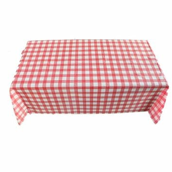 Rectangle Table Cloth Red Grid 160x160cm Table Cloth Tea Table Cloth Kitchen Tablecloth And Multipurpose Cloth