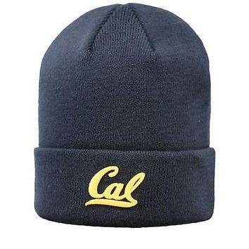 Licensed Cal Bears NCAA Cuffed Knit Tow Beanie Stocking Stretch Sock Hat Cap KO_19_1