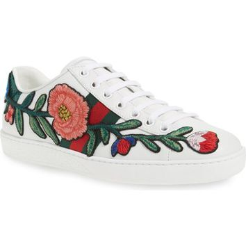 Gucci 'New Ace' Low Top Sneaker (Women) | Nordstrom