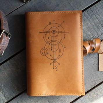Geometric Eye Leather Journal