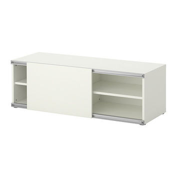 "BESTÅ Storage combination w sliding door, white - 47 1/4x15 3/4x15 "" - IKEA"