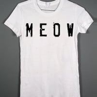 Cat Shirt - Meow - Womens Tshirt