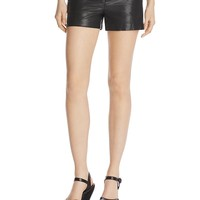 Alice and OliviaCady Leather Shorts