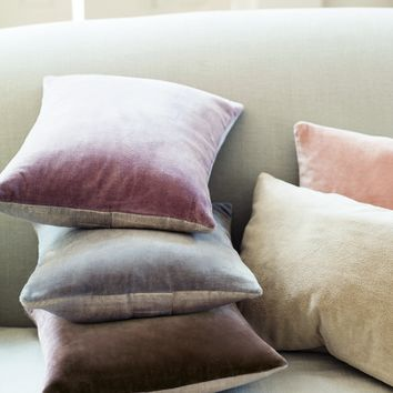 NEW Velvet & Linen Cushion - Blush - Bestsellers