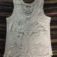 Reserve for RIPPS01 Sexy Lace Summer Tank/  Boho Lace Tank/Festival Top.