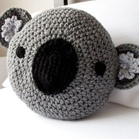 CROCHET KOALA PILLOW by peanutbutterdynamite on Etsy