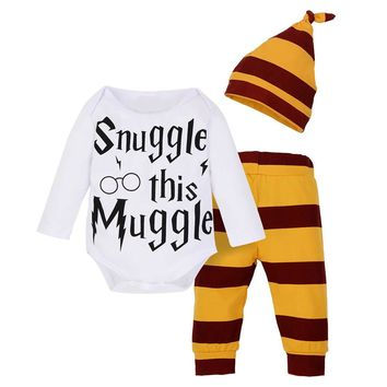 '3 PCS' Newborn Infant Baby [Harry Potter] Outfit