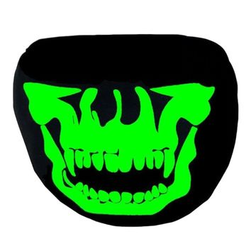 Wild Fang Glow in the Dark/Blacklight Reactive Black Surgical Mask