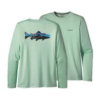 Patagonia Graphic Tech Fish Tee- Trout- Lite Distilled Green