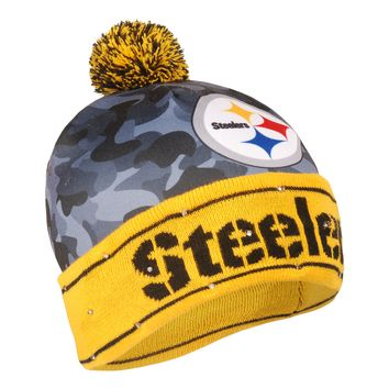 Pittsburgh Steelers Official NFL Camouflage Light Up Printed Beanie