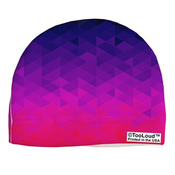 Geometric Gradient AOP Adult Fleece Beanie Cap Hat All Over Print by TooLoud